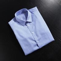2018春装新款 柜子剪标出品免烫衬衫男长袖 格子衬衫抗皱商务衬衣