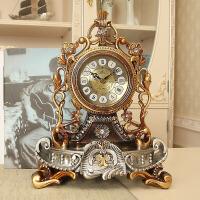 欧式台钟静音座钟个性坐钟客厅大摆钟石英装饰桌钟表