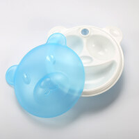 婴儿碗勺套装辅食婴幼儿童餐具宝宝分格隔餐盘吸盘摔注水保温碗D7