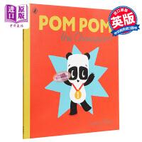 【中商原版】Sophy Henn Pom Pom the Champion 苏菲・海恩 熊猫胖胖的比赛 精品绘本 低幼亲