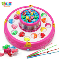 儿童钓鱼玩具池套装磁性一岁半宝宝1-2-3周岁电动男孩带音乐