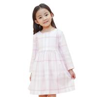 【网易严选 限时抢】格纹棉质褶皱连衣裙(女童)
