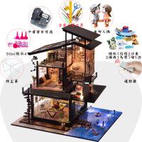 diy小屋成品房子模型diy小屋玻璃别墅木质房子中国风特别生日礼物女