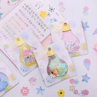 灯泡烫金PVC贴纸包手帐套装个性创意DIY透明日记贴纸30枚入